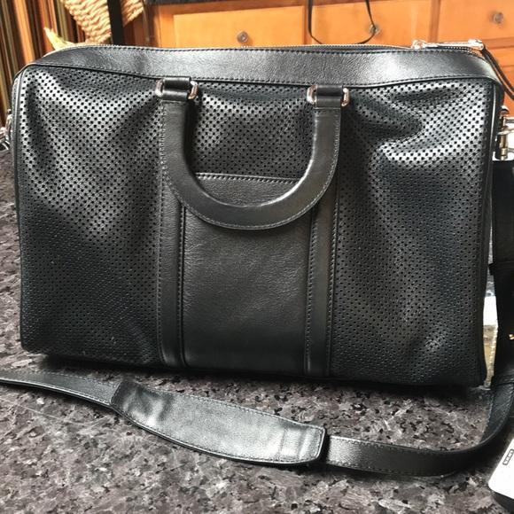 e431f53c551ba1 MICHAEL Michael Kors Bags | Michael Kors Black Leather Gym Bag ...